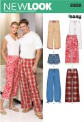 6859 New Look Pattern: Misses', Men's and Teens' Pyjamas Trousers and Shorts